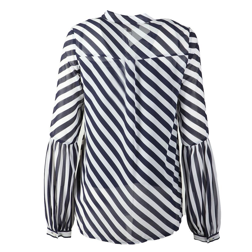 Bias Stripe Pleated Shirt main image