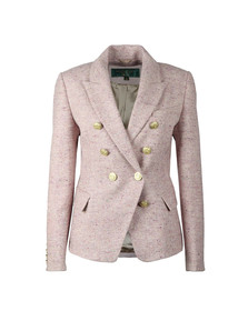 Holland Cooper Womens Pink Knightsbridge Blazer