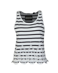 Superdry Womens White Pacific Broderie Stripe Tank