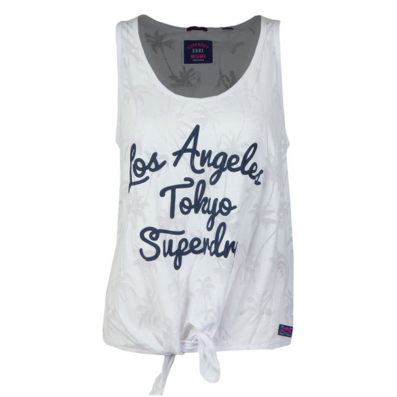 Superdry Womens White Surf Beach Tank main image