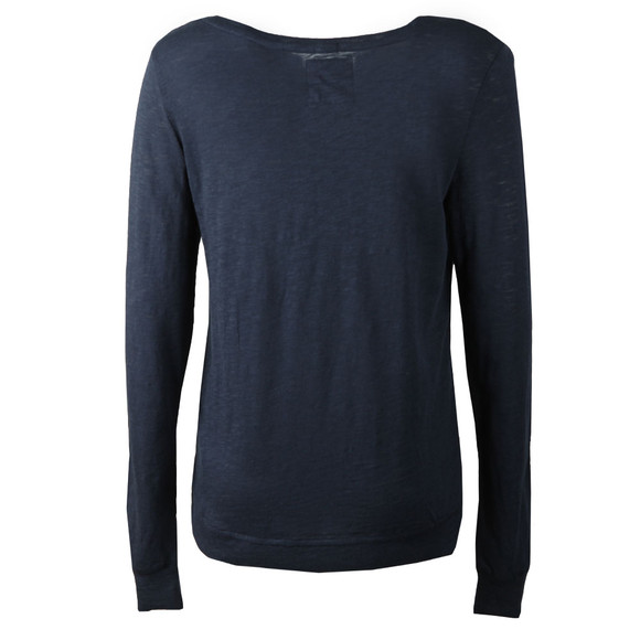 Superdry Womens Blue Raw Edge Crew Top main image