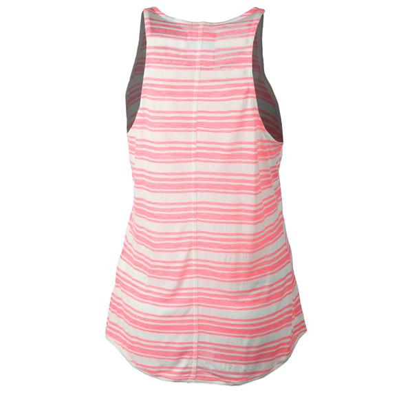 Superdry Womens Pink Multi Stripe Burnout Vest main image