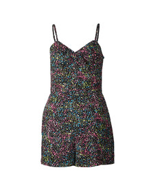 Superdry Womens Multicoloured Alice Knot Playsuit