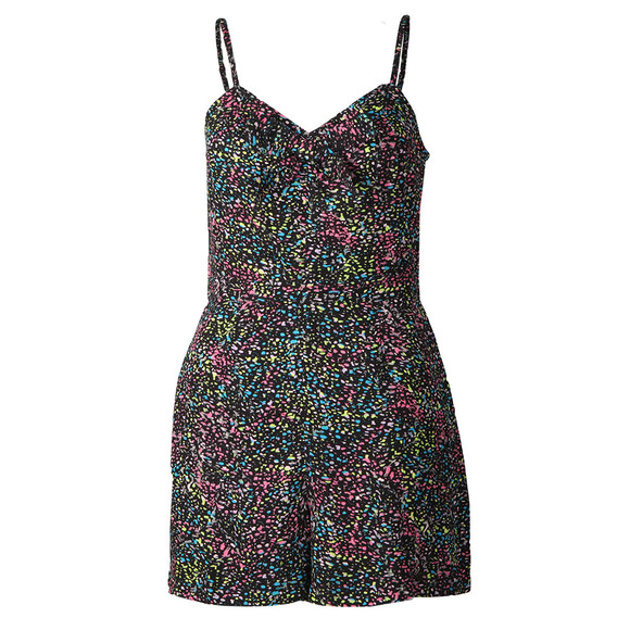 Superdry Womens Multicoloured Alice Knot Playsuit main image