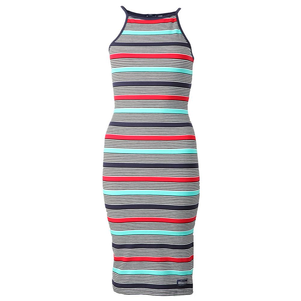 Strappy Stripe Midi Dress main image