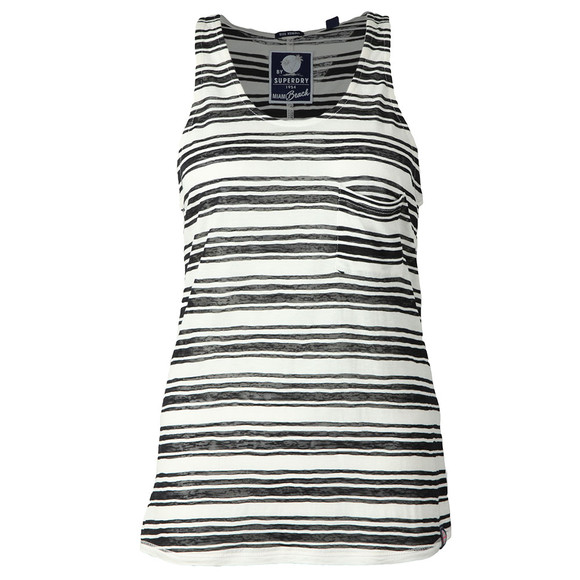Superdry Womens Blue Multi Stripe Burnout Vest main image