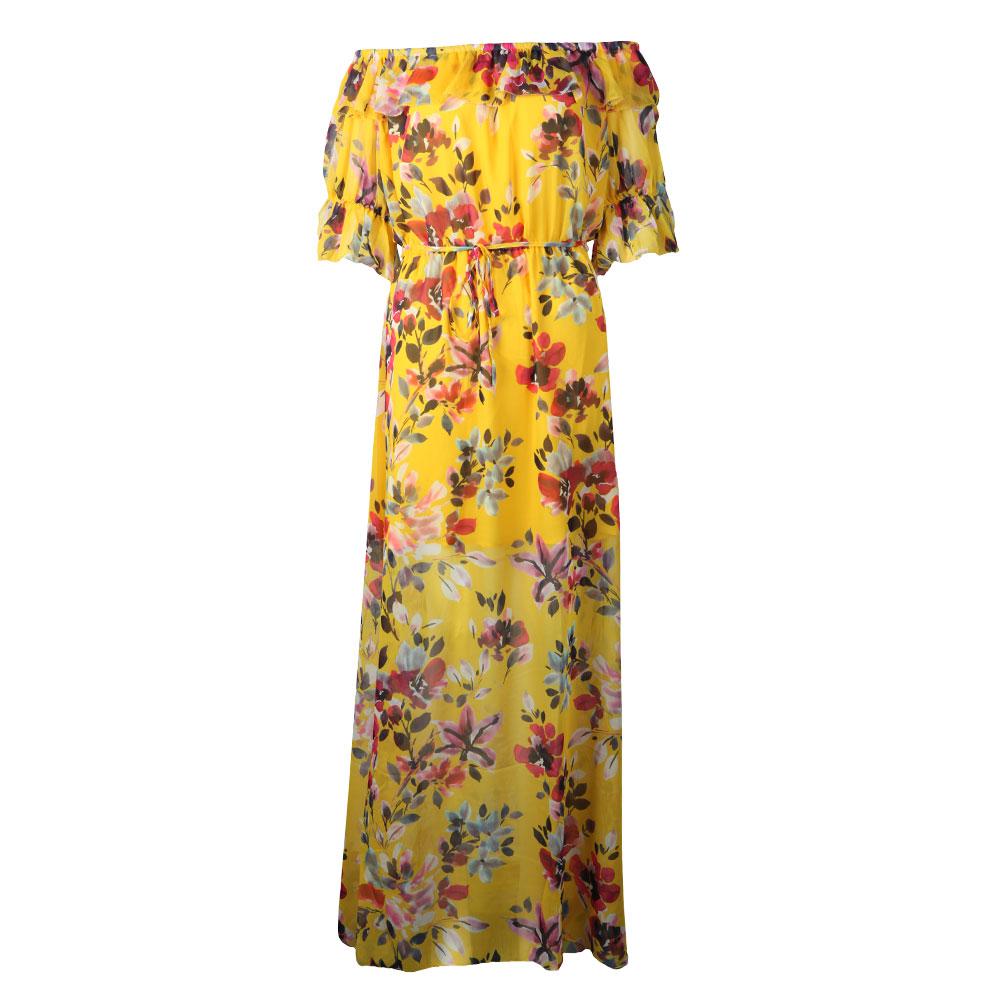 Linosa Crinkle Off Shoulder Maxi Dress main image