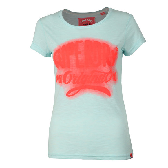 Superdry Womens Blue MFG Glow Entry Tee main image