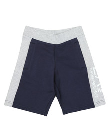 EA7 Emporio Armani Boys Blue Two Tone Sweat Shorts