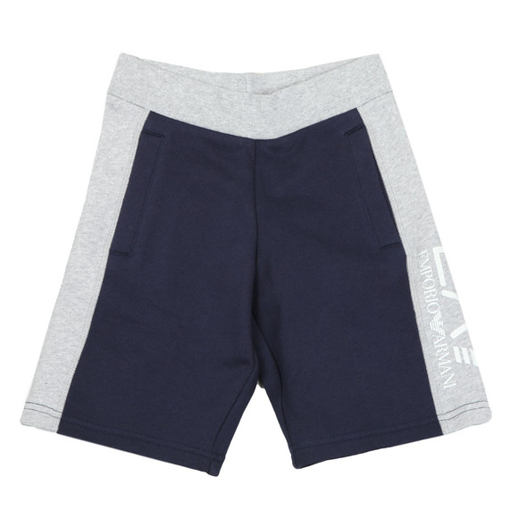 EA7 Emporio Armani Boys Blue Two Tone Sweat Shorts main image