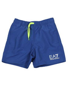 EA7 Emporio Armani Boys Blue Logo Swim Short