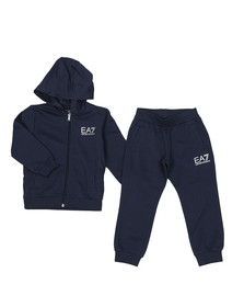 EA7 Emporio Armani Boys Blue Small Logo Tracksuit