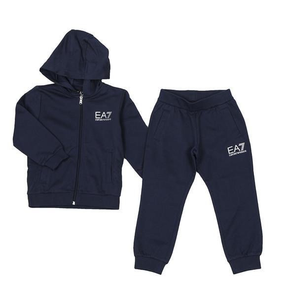 EA7 Emporio Armani Boys Blue Small Logo Tracksuit main image