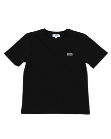 BOSS Boys Black J25P01 Small Logo T Shirt