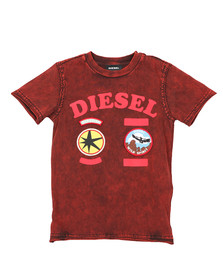 Diesel Boys Red Tiffor T Shirt