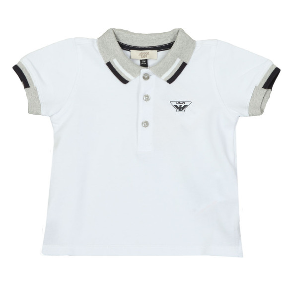 Armani Baby Boys White 3ZHF01 Polo Shirt main image