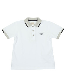 Armani Junior  Boys White 3Z4F01 Polo Shirt