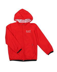 EA7 Emporio Armani Boys Red Hooded Bomber Jacket