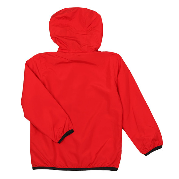 EA7 Emporio Armani Boys Red Hooded Bomber Jacket main image
