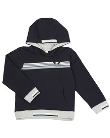 Armani Junior  Boys Blue 3Z3M03 Overhead Hoody