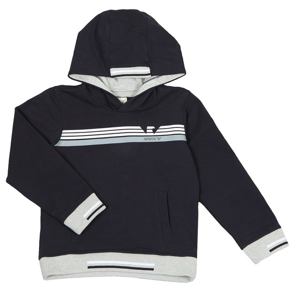Armani Junior  Boys Blue 3Z3M03 Overhead Hoody main image