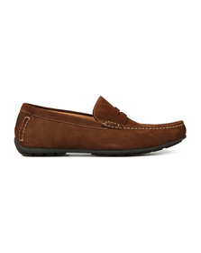 Loake Mens Brown Goodwood Suede Moccasin Shoe