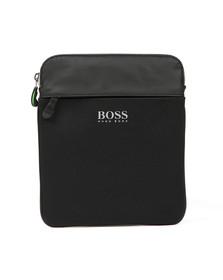 BOSS Green Mens Black Lightec Zip Bag