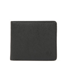 Fred Perry Mens Black Saffiano Billfold Wallet