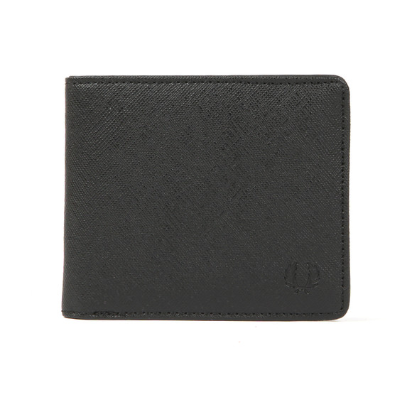 Fred Perry Mens Black Saffiano Billfold Wallet main image