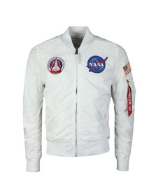 Alpha Industries Mens White MA-1 NASA Reversible Bomber