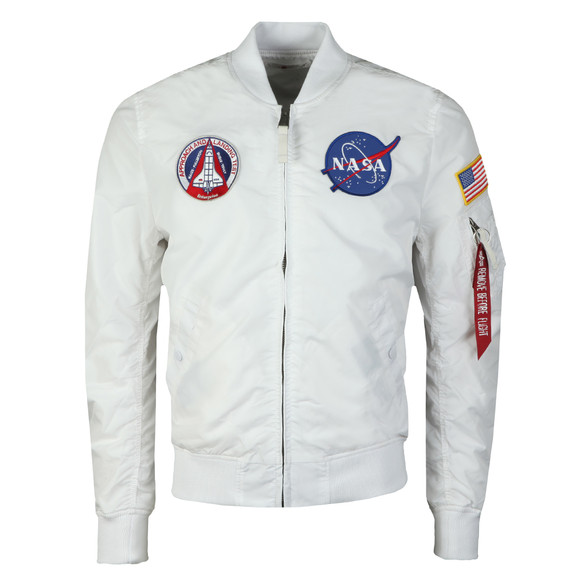 Alpha Industries Mens White MA-1 NASA Reversible Bomber main image