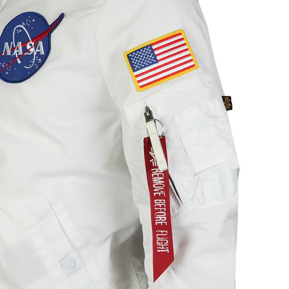 Alpha Industries Mens White MA-1 NASA Reversible Bomber main image