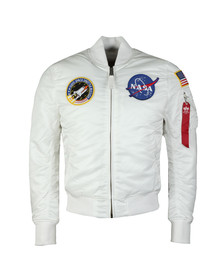 Alpha Industries Mens White MA1 Nasa Jacket