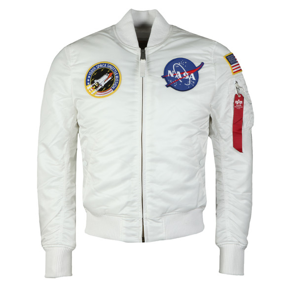 Alpha Industries Mens White MA1 Nasa Jacket main image