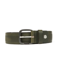 Diesel Mens Green Wildd Leather Belt