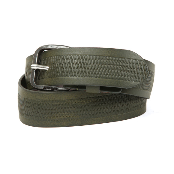 Diesel Mens Green Wildd Leather Belt main image