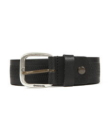 Diesel Mens Black Wildd Leather Belt