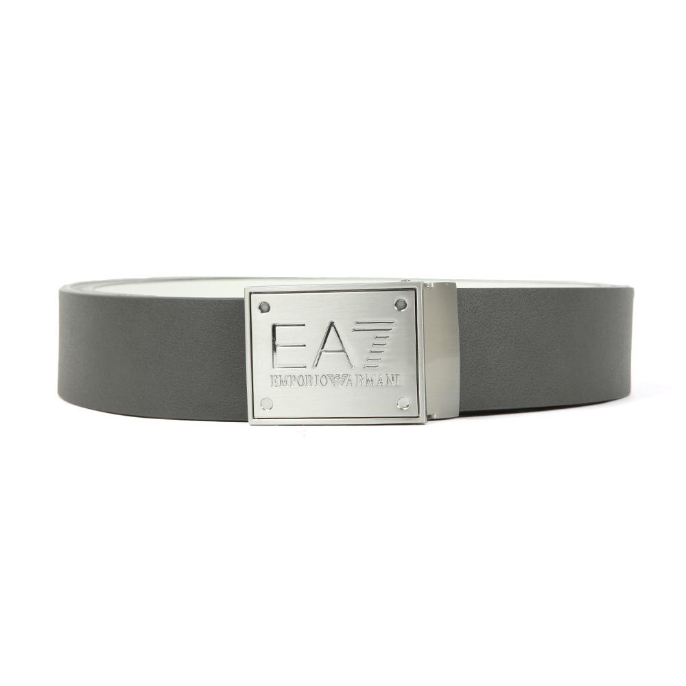 EA7 Emporio Armani Mens Grey Plate Logo Belt aaca51b4e70c2