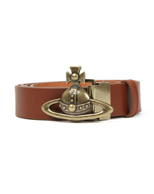 Vivienne Westwood Mens Brown Orb Buckle Belt
