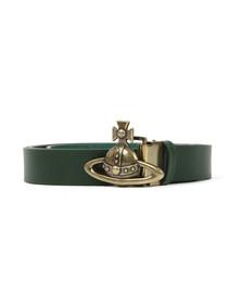 Vivienne Westwood Mens Green Orb Buckle Belt