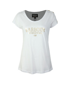 Barbour International Womens White Brake T Shirt