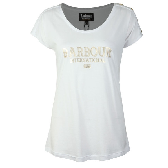 Barbour International Womens White Brake T Shirt main image