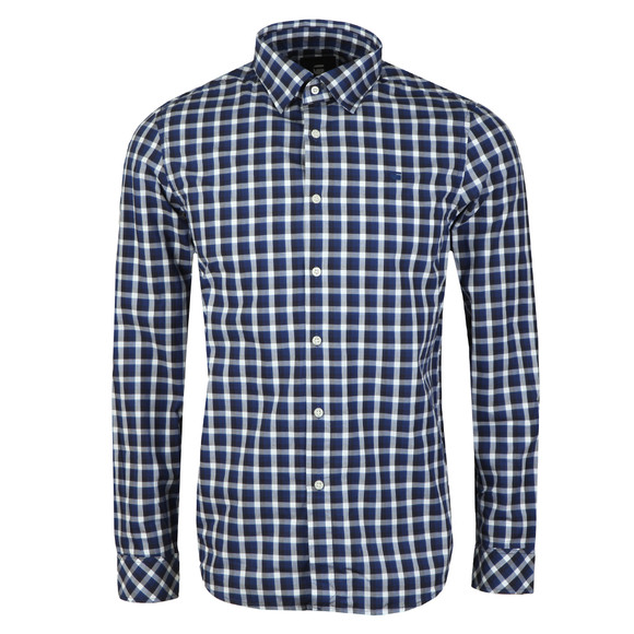 G-Star Mens Blue L/S Check Shirt main image