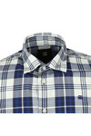 G-Star Mens Blue LS Bold Check Shirt