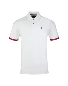 G-Star Mens White S/S Core Polo
