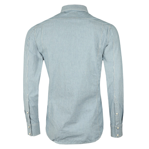 G-Star Mens Blue L/S Hicks Stripe Shirt main image