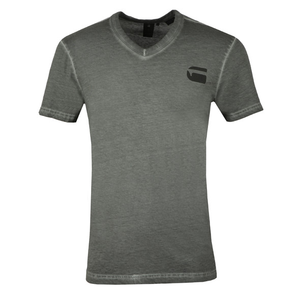 G-Star Mens Grey S/S V Neck Tee main image