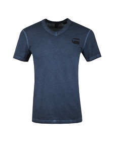 G-Star Mens Blue S/S V Neck Tee