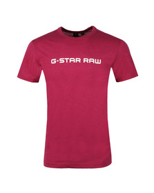 G-Star Mens Purple S/S Print Tee
