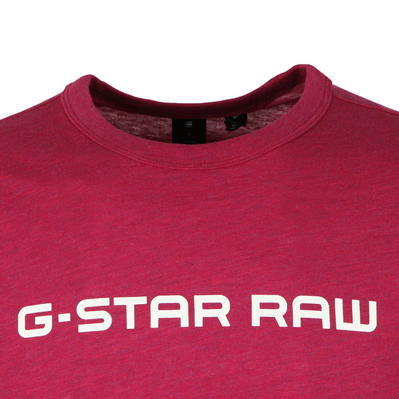 G-Star Mens Purple S/S Print Tee main image